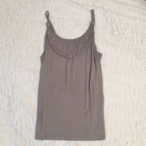 Taupe fancy INC tank